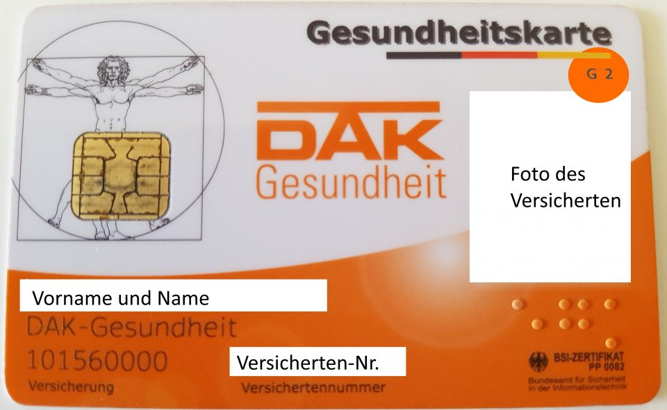 Versichertenkarte G 2 - neutral