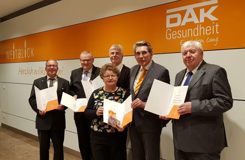 v.l.n.r.: Ewald Lehnert, Walter Hoof, Rudow Bock, Waltraud Olbricht, Andreas Storm und Dieter Schröder